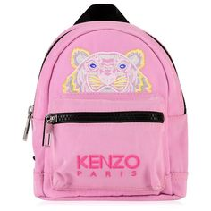KENZO Mini Tiger Ruckack (2.673.485 IDR) ❤ liked on Polyvore featuring bags, handbags, mini purse, miniature backpack, kenzo backpack, embroidered purse and zip purse