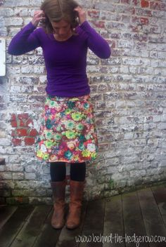 Simplicity 1616: Sew a summer skirt 101 [Minerva Craft Blogger Network] - Behind the Hedgerow