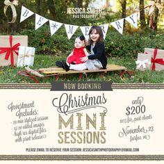 I like the idea of this. Christmas Mini Session Set Up