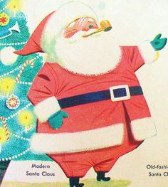 """""""modern"""" Santa Claus (1976)    The Old-Fashioned Christmas Annual (1976) a Golden Magazine."""