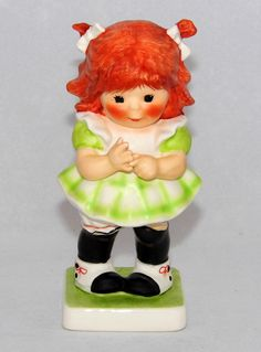 https://flic.kr/p/Nf2bJH | Vintage Goebel Red Heads Figurine By Charlot Byj Titled Something Tells Me, Measures 4.75 Inches Tall, Made In West Germany
