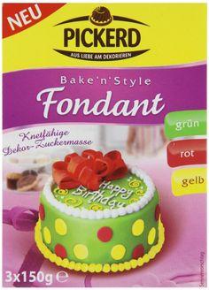 Pickerd Fondant gelb, rot, grün, 2er Pack (2 x 450 g): Amazon.de: Lebensmittel & Getränke