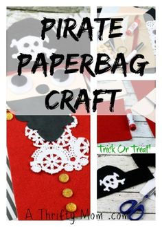 Halloween Bag Pirate Trick or Treat Paper bag craft Diy Halloween Fog, Healthy Halloween Treats, Halloween Bags, Diy Halloween Decorations, Halloween Crafts, Crafts To Make, Fun Crafts, Crafts For Kids, Amazing Crafts