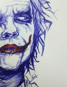Pen sketch of joker by Ravi Raj #Joker #draw #sketch #drawing #art #pendrawing