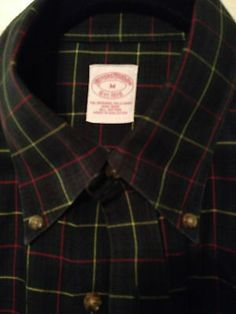 Brooks Brothers Original Polo Button Down Dress Shirt Medium Plaid Non Iron | eBay