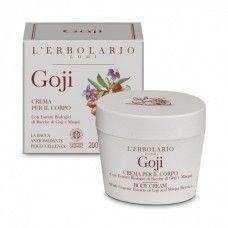 Goji testápoló krém goji illattal.  - Rendeld meg online! Parfüm és kozmetikum család az olasz Lerbolario naturkozmetikumoktól