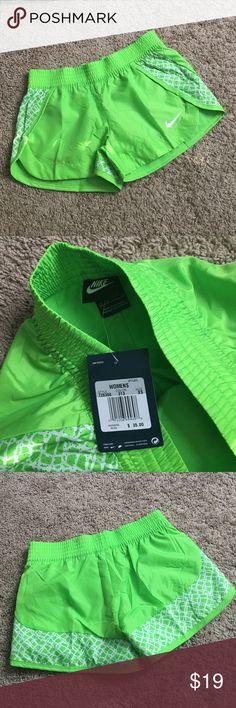 Nike shorts 😍 Beautiful neon green💕💕.  Enjoy:)😍 Nike Shorts