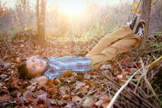 perfect evening light; fall leaves; cool little boy portraits ~ by abi ruth