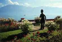 La statue de Chaplin en Suisse