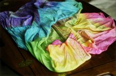 need to make rainbow play silks with the kids since we are old pro's at dying fabric now ;)