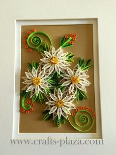 Quilled Daisies in a frame