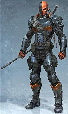 Batman Arkham Origins Deathstroke character concept art by Massive Black…