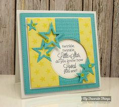 Beautiful Baby, Star Background, Typewriter Text Background, Blueprints 12 Die-namics, Blueprints 14 Die-namics, Stacking Stars Die-namics - Jackie Pedro #mftstamps