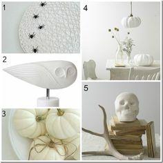 #modern #minimal #white #Halloween
