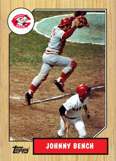 Johnny Bench, Cincinnati Reds Baseball, Baseball Cards, Vintage