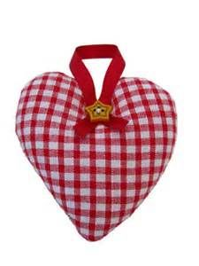 Red Gingham Heart | Christmas Ornaments | Red Gingham Heart