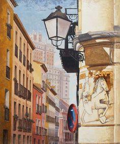 Madrid, Spain, Journal, Sunset, Architecture, Illustration, Artwork, Photography, Sun