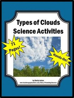Clouds Mega Bundle Science Activities: Task Cards, Accordion Book, Poster Projects, Experiments, Word Wall, Word Wheel, Quiz and More!!! 71 Pages