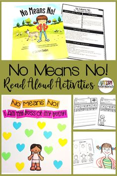 No Means No by Jayneen Sanders. Behavior Basics Book Club Curriculum for students with special needs and autism.