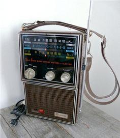 Retro Radio Portable Rhapsody Transistor by 20somethingvintage