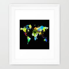 Buy Colorful world map Framed Art Print by haroulita. Worldwide shipping available at Society6.com. Just one of millions of high quality products available.