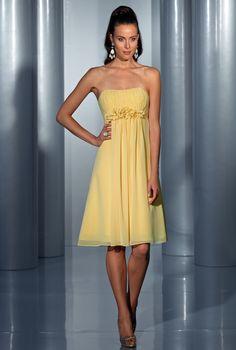 Isabel de Mestre - Evenings Abendkleider Kollektion 2015 (Art.14E 020): Kurzes Abendkleid in Gelb