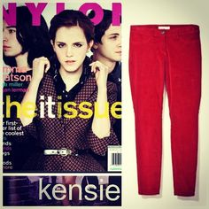 Kensie cord pants as featured in Nylon, October 2012 issue