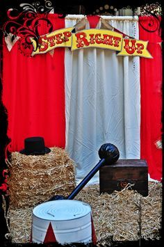 Vintage Circus Party. See more party ideas at CatchMyParty.com. #circuspartyideas