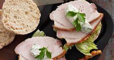Opskrift på sandwich med flæskesteg og krydret mayo