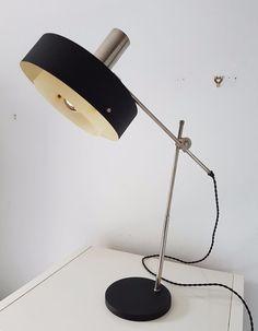 1950s Retro Vintage Stilnovo Knoll Black Desk Lamp EAMES ARTELUCE ARREDOLUCE…