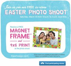 free in-store easter photo shoot 03/23 only