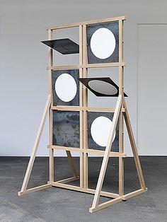 Amalia Pica, 'Shutter telegraph (as seen on TV),' Johann König Exhibition Display, Exhibition Space, Exhibition Ideas, Instalation Art, Display Design, Public Art, Retail Design, Sculpture Art, Abstract Sculpture