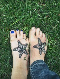 TATTOOS.ORG - Matching starfish tattoos from Holy Mackerel in...