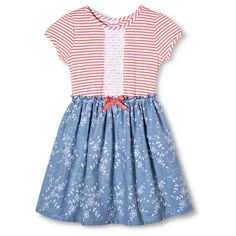Young Hearts Girls' Chambray Dress - Blue