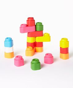 Look at this Baby Clemmy 24-Piece Soft Building Block Set on #zulily today!