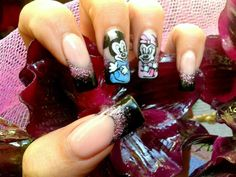 aww minnie mouse nails