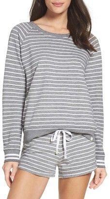3403184ec49b4 burnout lounge sweatshirt by Honeydew Intimates. Ultra-lightweight French  terry styles an essential raglan-sleeve sweatshirt that s distressed to  soft ...