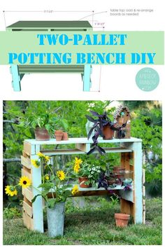 Two-pallet potting bench DIY with full directions