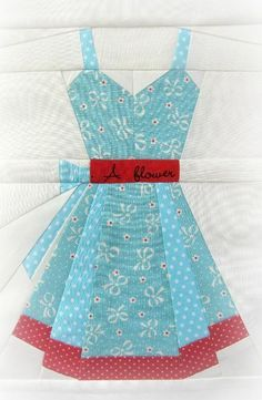 Quilting: Vintage Dresses, a paper piecing pattern Would be cute for a little wall hanging in a girls room!