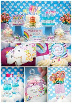 Rainbow Unicorn Birthday Party | B Lovely Events