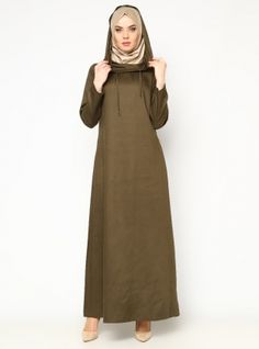 Hooded Dress - Khaki - CML Collection