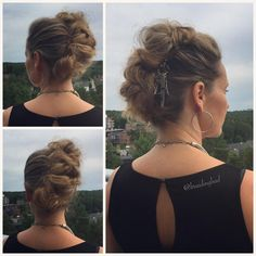 "84 tykkäystä, 2 kommenttia - Heli (@braidingbad) Instagramissa: ""Not a single hair pin in this #nanohawk #updo ☝️😌 Only a few @invisibobble NANO hair rings. This…"""