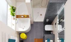 Ab in die Wanne oder lieber doch unter die Dusche? Bei guter Planung lässt sich beides auch auf einem kleinen Grundriss vereinen.