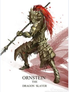 Ornstein the Dragon Slayer - Dark Souls Dark Souls You Died, Dark Souls Art, Fantasy Armor, Medieval Fantasy, Dark Fantasy, Ornstein Dark Souls, Soul Saga, Character Art, Character Design