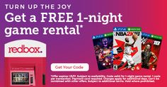 FREE 1-Night Game Rental from Redbox - no strings attached! Offer valid through 1/5/18. #CertifiKIDAd