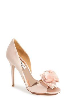b3e3088138d Badgley Mischka  Blossom  Open Toe d Orsay Pump (Women) Pink Pumps