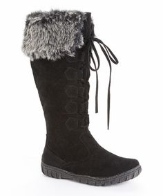 Look at this #zulilyfind! Black Mishasha Suede Boot by Bucco #zulilyfinds
