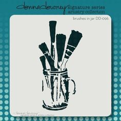 """NEW RELEASE - donna downey """"artistry series"""" stencils - brushes in a jar - Donna Downey Studios Inc - 2"""