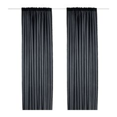 VIVAN Curtains, 1 pair - black - IKEA