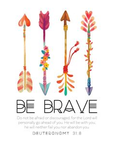 What a blessing to know we never have to be afraid because He will go before us & fight our battles. Let this nursery print be your child's reminder to Be Brave.                                                                                                                                                                                 More